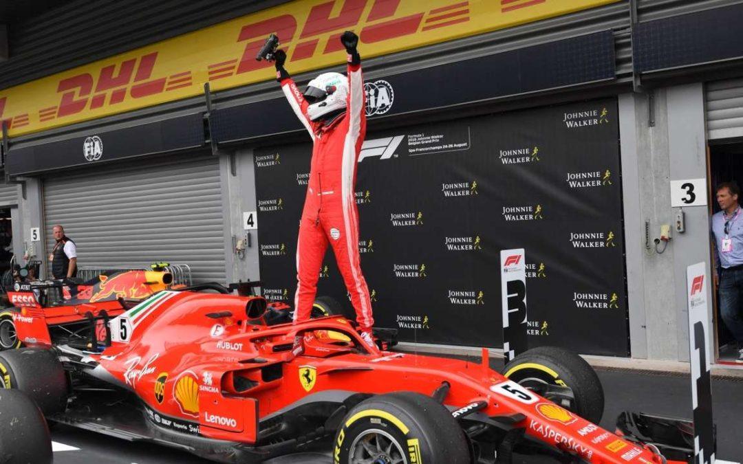 فيتل يفوز بسباق بلجيكا على حساب هاميلتون