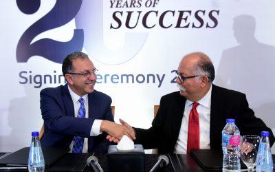 """21 عاماً من الشراكة بين كبري  الشركات لتقديم خدمات مميزة للعملاء شركة إكسون موبيل مصر وتويوتا ايجيبت تجددان التعاون لثلاث سنوات جديدة الأنصاري:"""" لدينا شراكة استراتيجية قوية مع تويوتا ايجيبت لأكثر من 21 عام داخل السوق المصرية، ونتطلع لتحقيق المزيد من النجاحات معا"""" منصف:"""" نؤمن أن السبب الرئيسي لنجاحنا مع شركة إكسون موبيل مصر هو حرصنا على تقديم أفضل المنتجات """""""